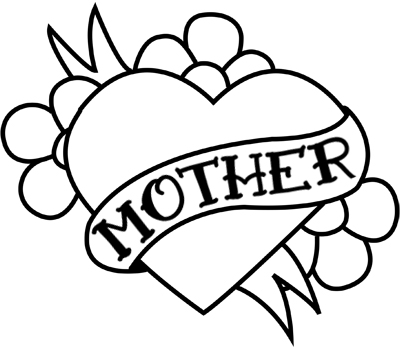 400x350 Clipart Of Mothers Day Hearts