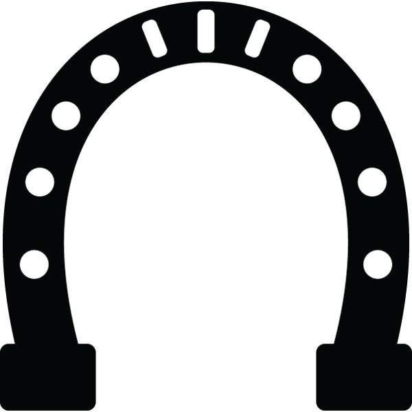 600x600 Horseshoe Motivation Recognition Graphic For Custom Products