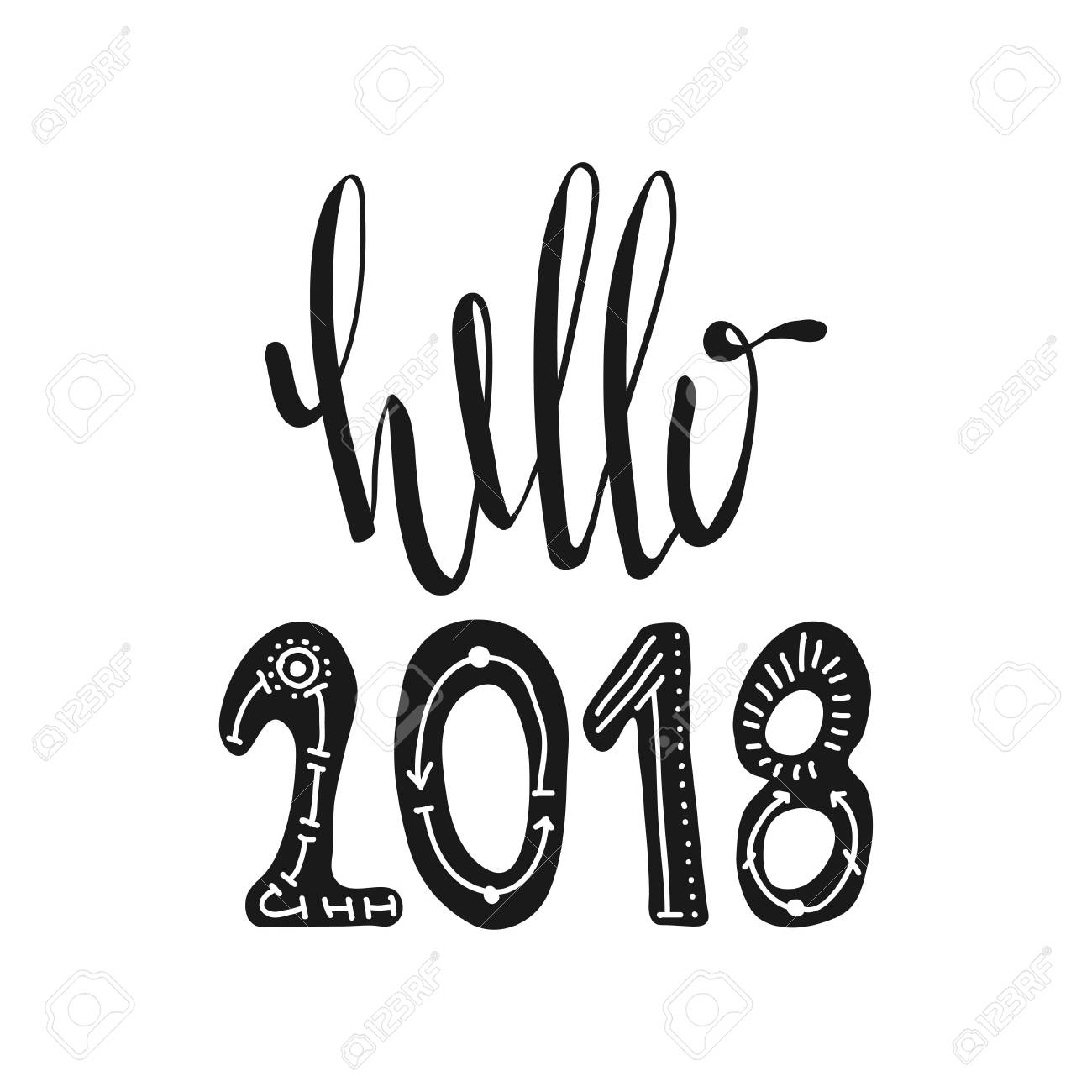 1300x1300 Hello 2018. Motivational Quotes. Sweet Cute Inspiration