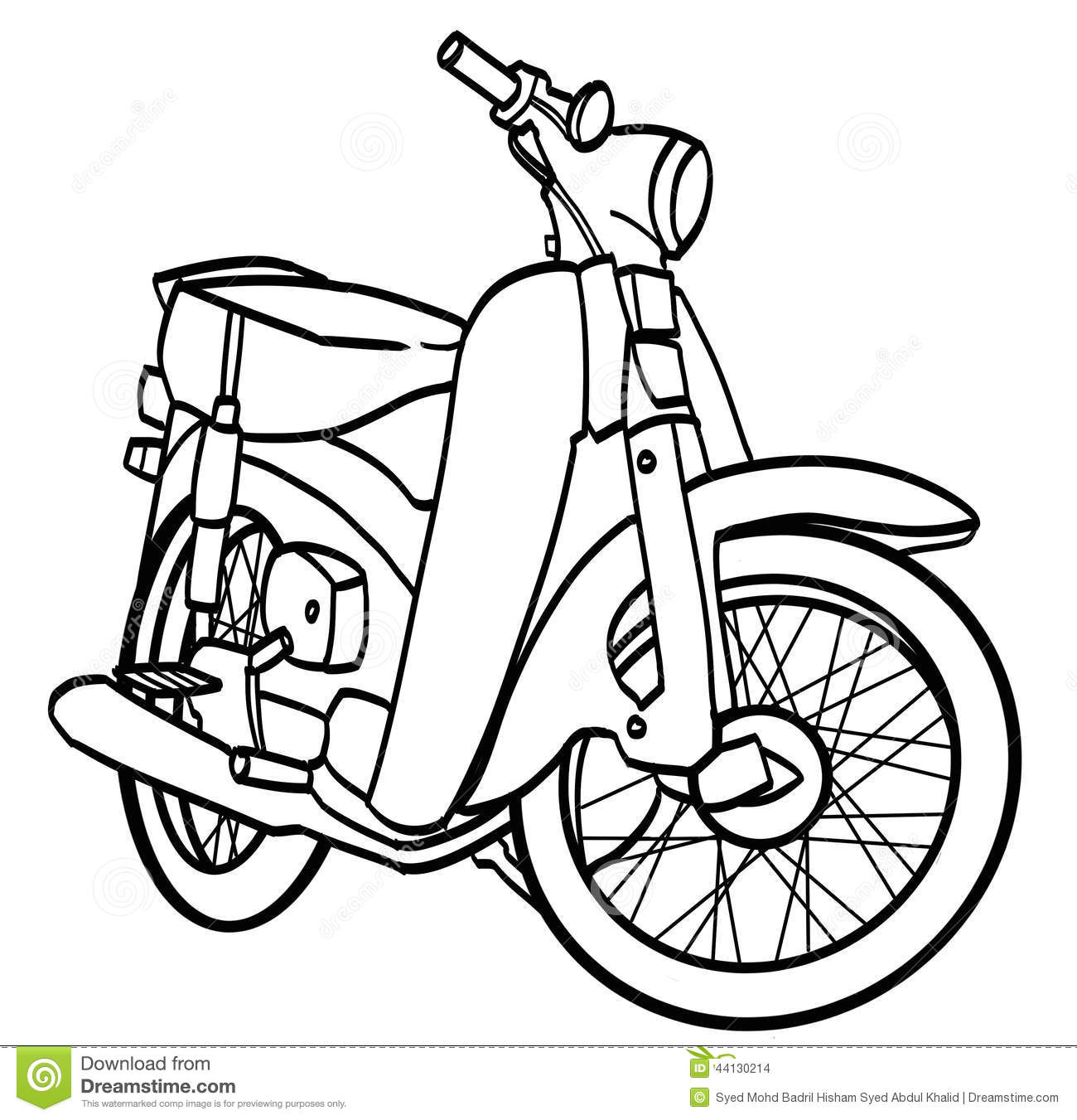 Motorcycle Black And White Clipart Free Download Best Motorcycle