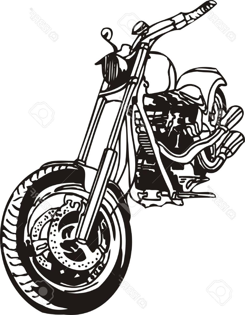 1014x1300 Best Free Harley Vector Illustration Stock Motorcycle Silhouette