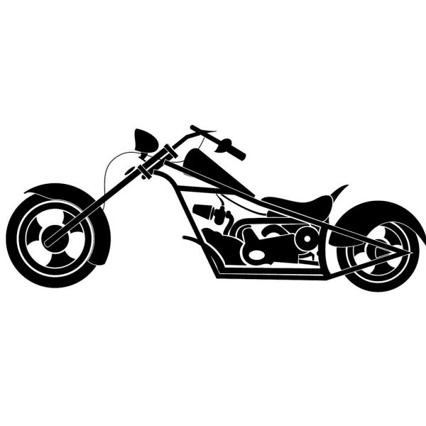 600x600 Motorcycle Chopper Clipart 6 Nice Clip Art