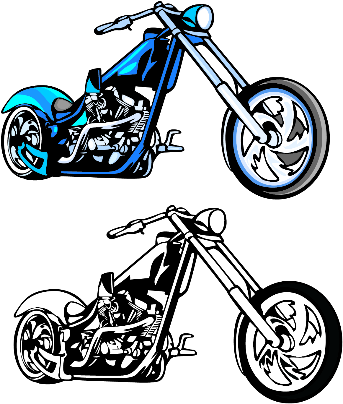 1162x1367 Motorcycle Clipart Chopper