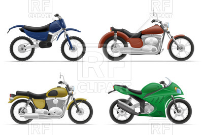 400x267 Racing Motorcycles, Cruiser And Classic Chopper Royalty Free