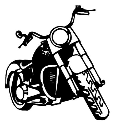 441x480 Harley Motorcycle Silhouette