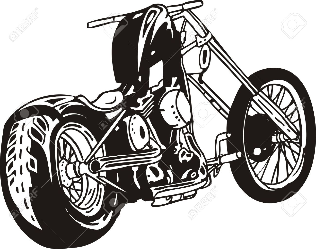 1300x1027 Chopper Clipart Harley Motorcycle