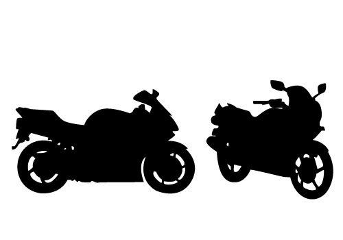 500x350 Stunning View Of A Motorcycle Silhouette Vector Free Download Clip