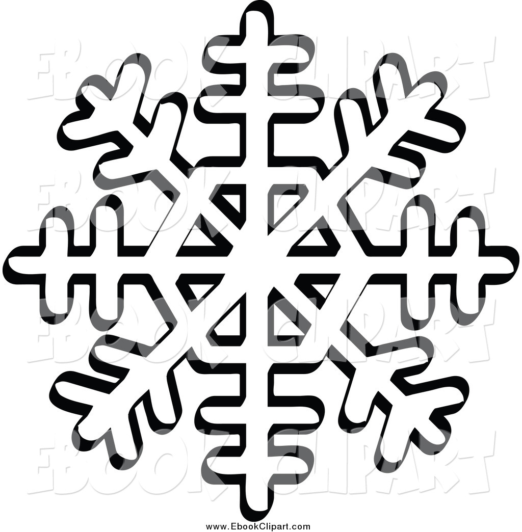 1024x1044 Vector Clip Art Of A Black And White Snowflake With Eight Tips By