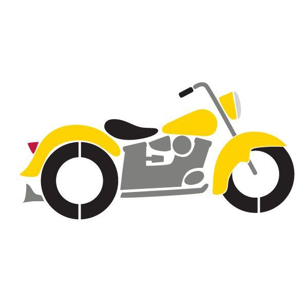 Motorcylce Cliparts Stencil