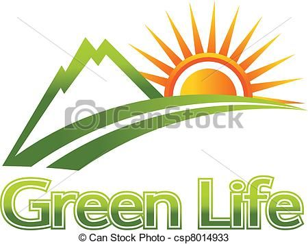 Mountain And Sun Clipart