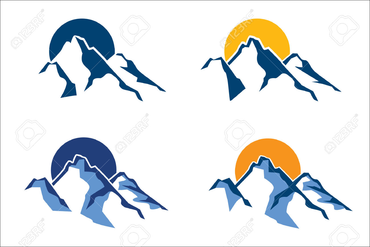 1300x867 Mountain clipart stylized
