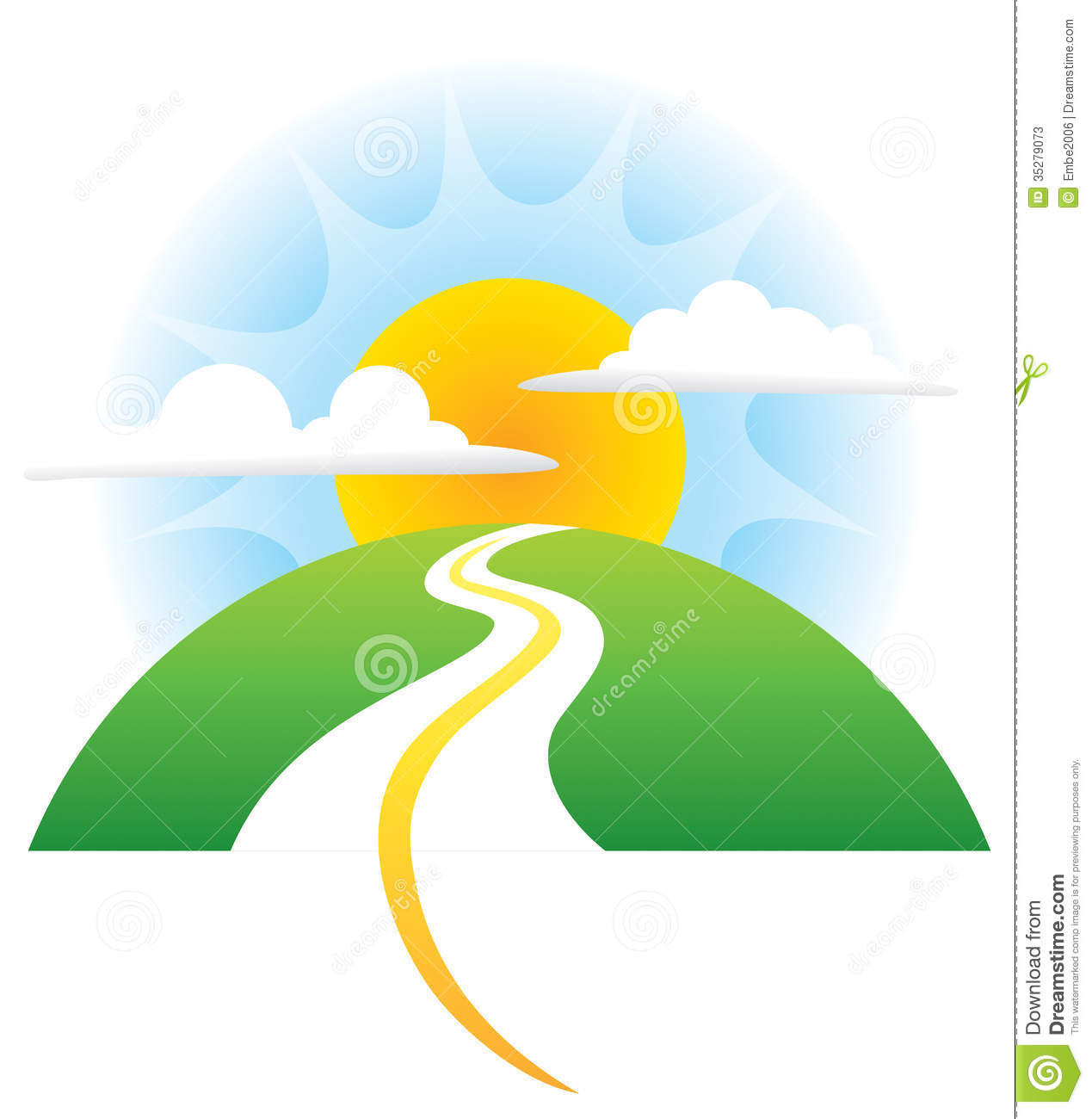 1269x1300 Path clipart mountain sun