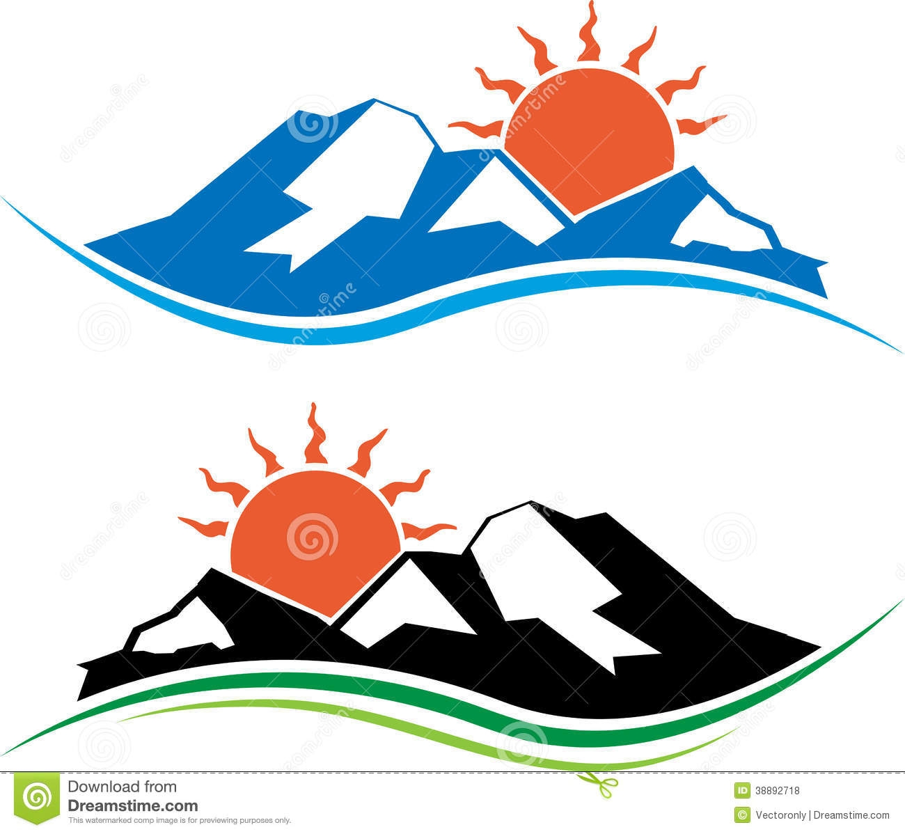 1300x1198 Sun clipart mountain
