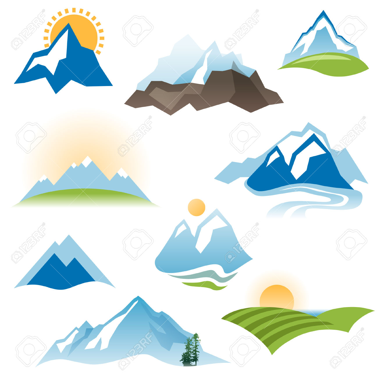 1300x1300 Valley clipart mountain sun