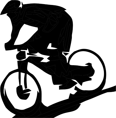 394x400 Downhill Bike Riding Clip Art – Cliparts
