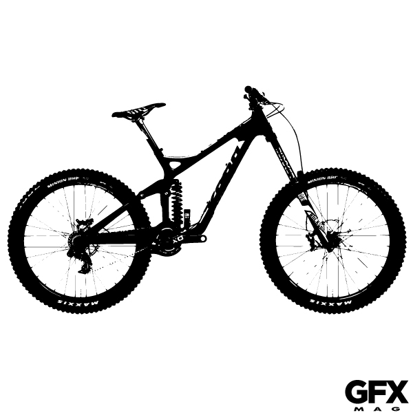 600x600 Free Vector Mountain Bike Silhouette