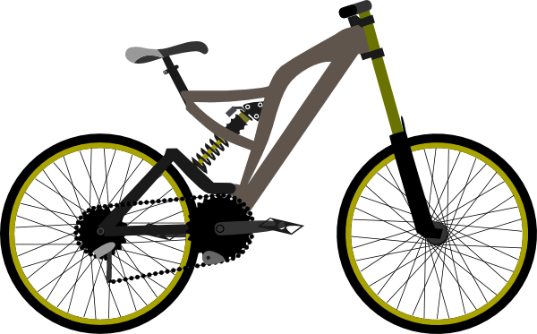 600x373 Mountain Bike Clip Art