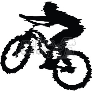 300x300 Royalty Free mountain biker 384573 vector clip art image