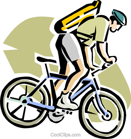 455x480 man on a mountain bike Royalty Free Vector Clip Art illustration