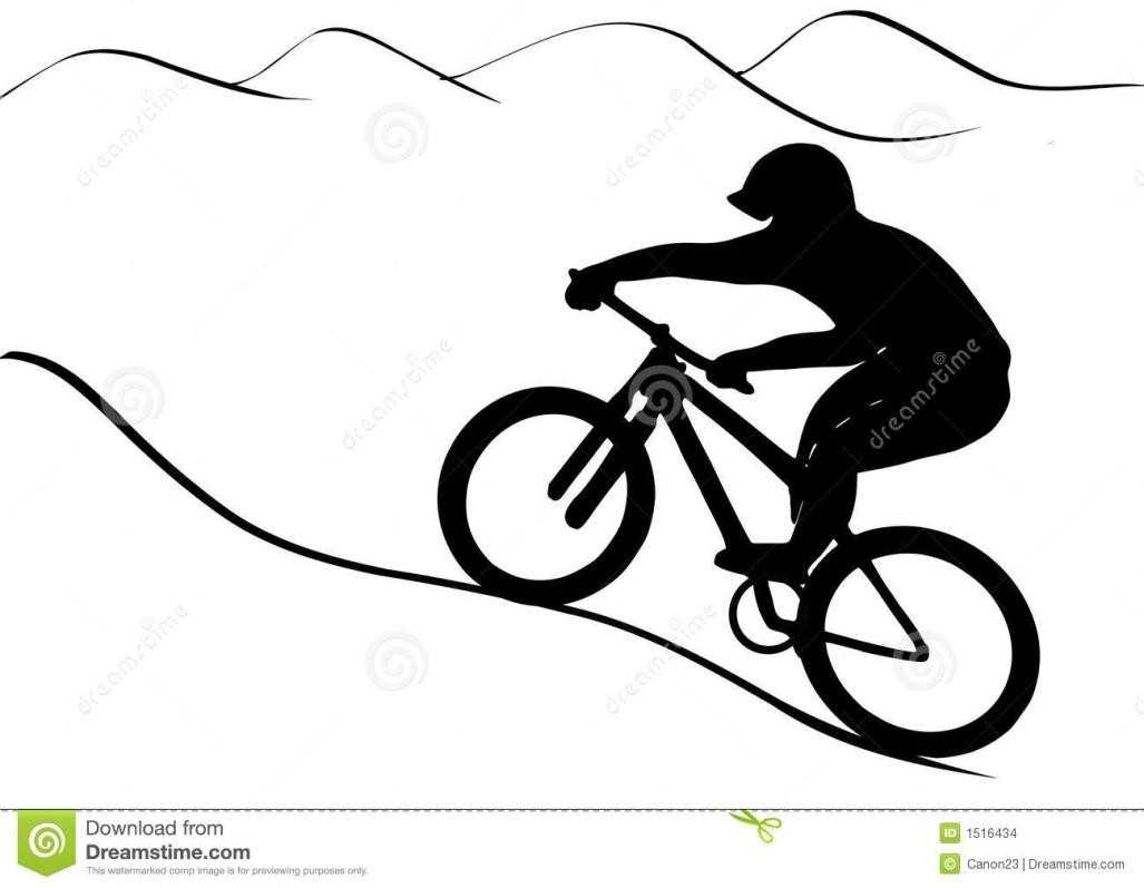 1027x797 the royalty with mountain bike clip art silhouette shadow on the