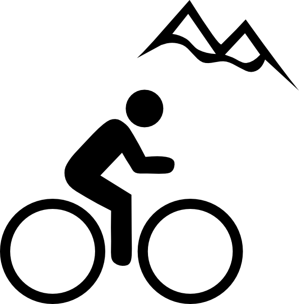 588x598 Bike Mountain Clip Art