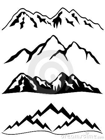 338x450 Graphic Mountains Clip Art