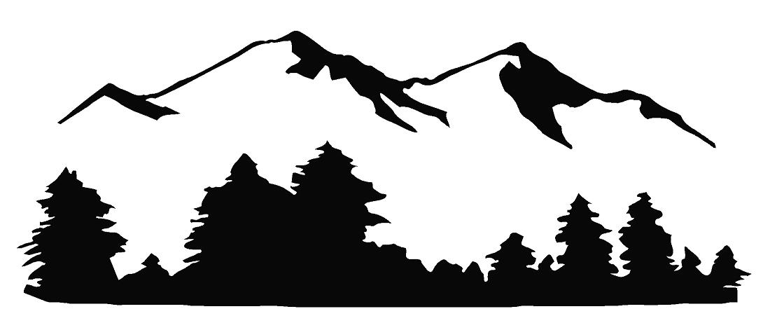 1090x461 Mountain Black And White Mountain Clip Art Black And White Free