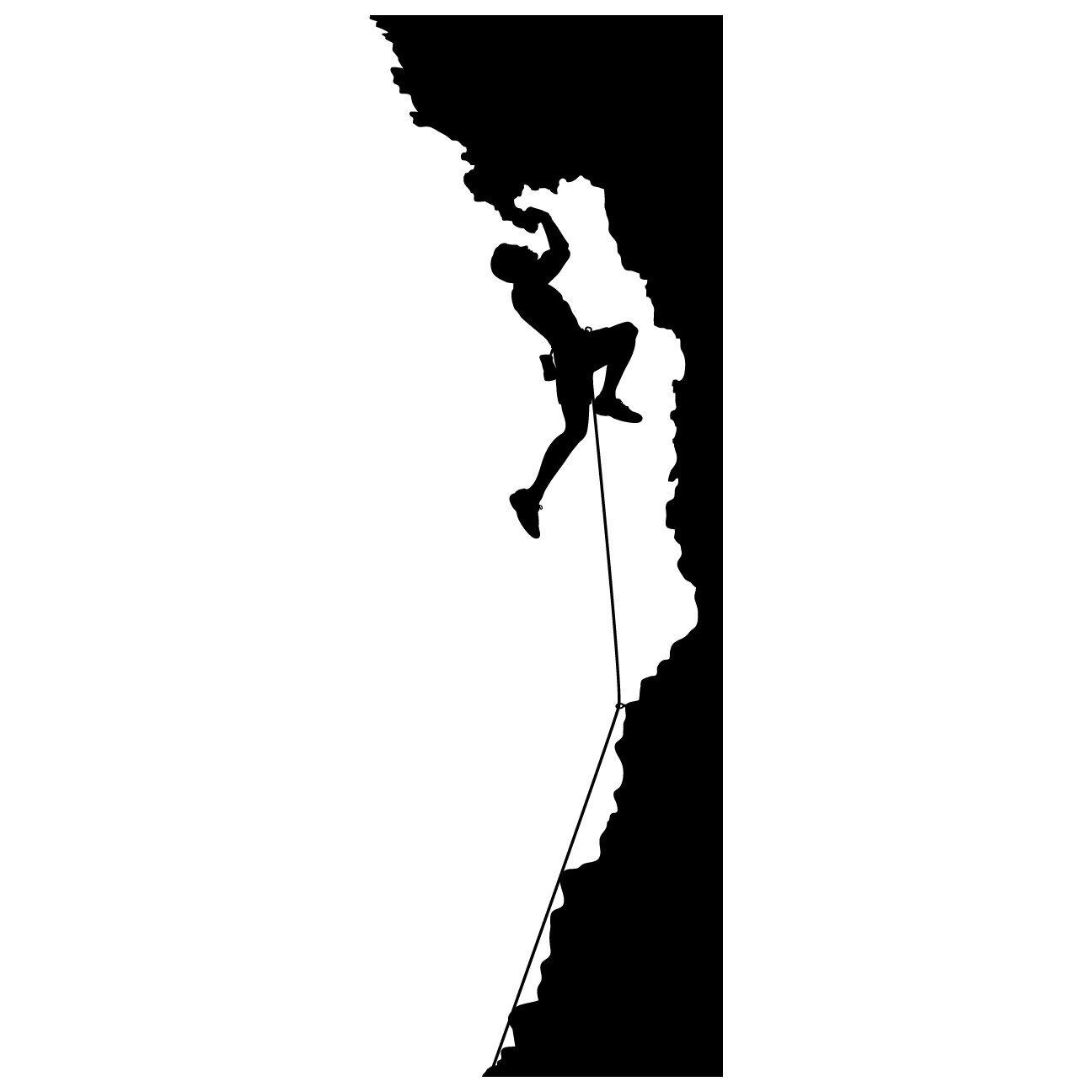 1296x1296 Climbing Logo Clipart Black And White