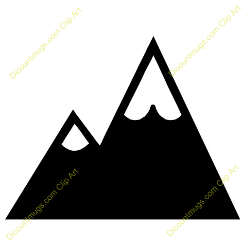 500x500 Colorado Clipart Mountain Clipart Black And White