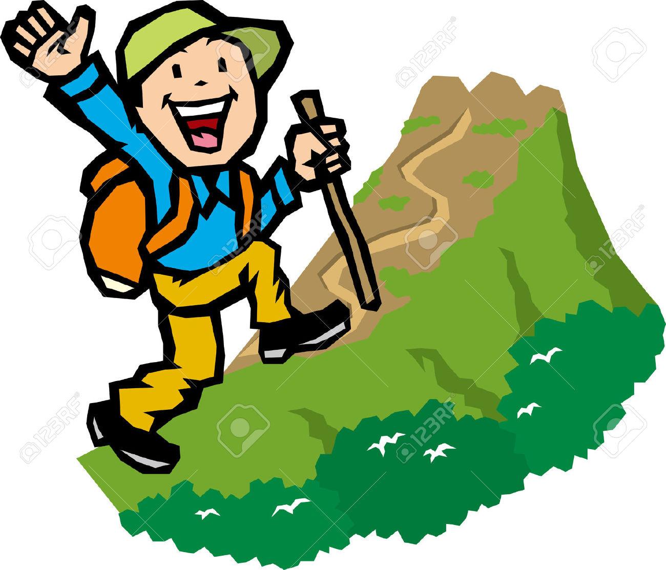 1300x1113 Hiking Clipart Mountain Trekking