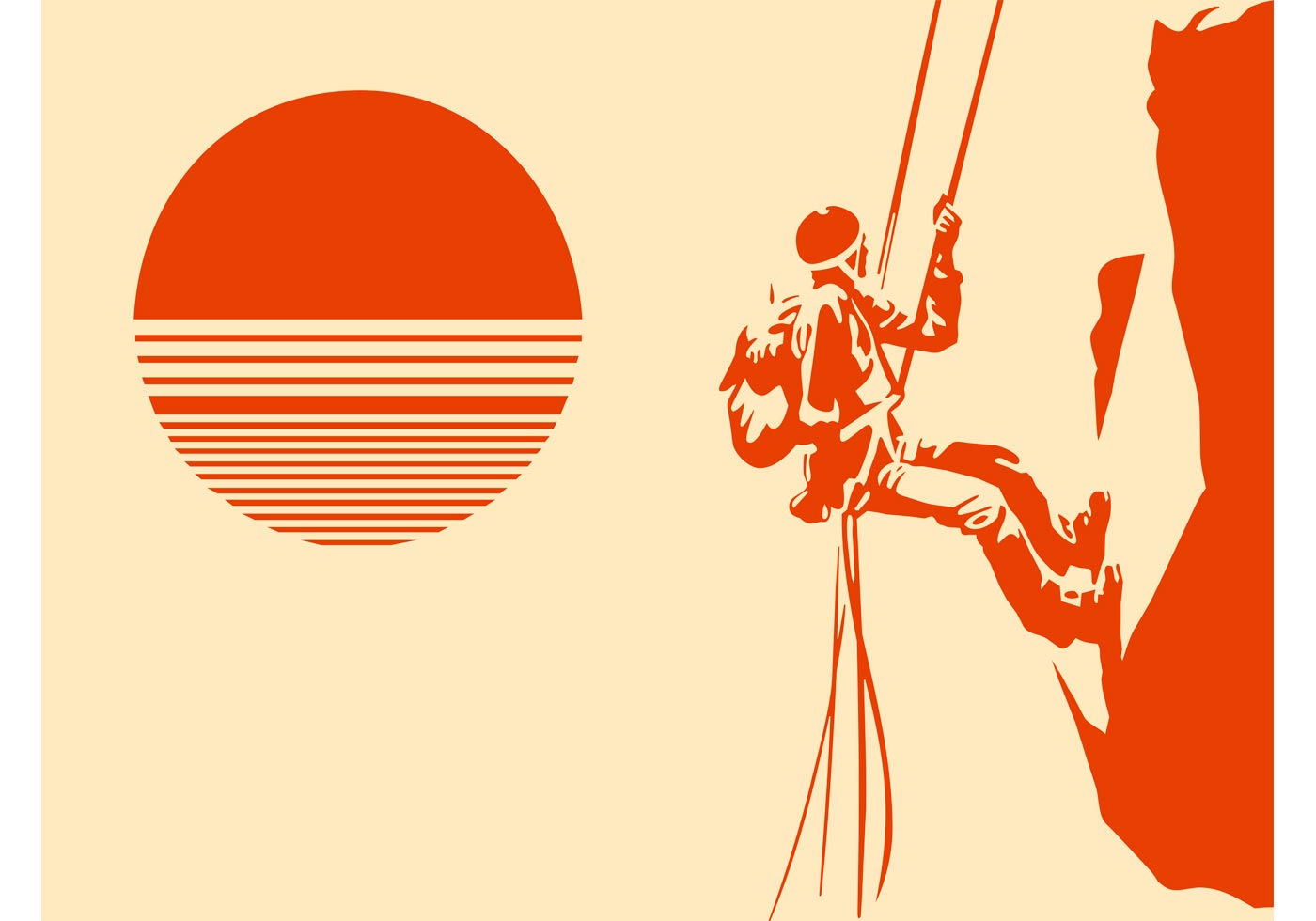 1400x980 Mountain Climber Silhouette Free Vector Art
