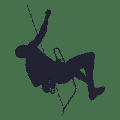 512x512 Mountain climbing silhouette
