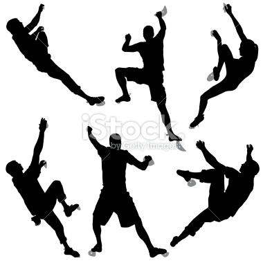 380x380 Rock Climber Silhouette Clipart