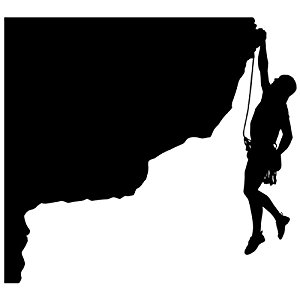 300x300 Rock Climbing Wall Decal Sticker 20