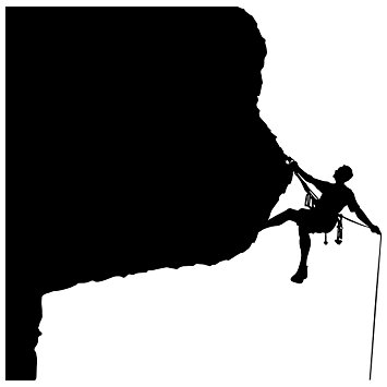 355x355 Rock Climbing Wall Decal Sticker 21