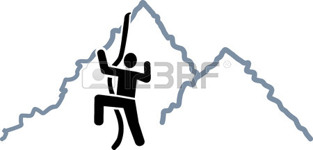 450x216 Man Climbing Silhouette Royalty Free Cliparts, Vectors, And Stock