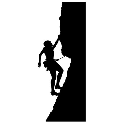 500x500 Rock Climbing Wall Decal Sticker 15