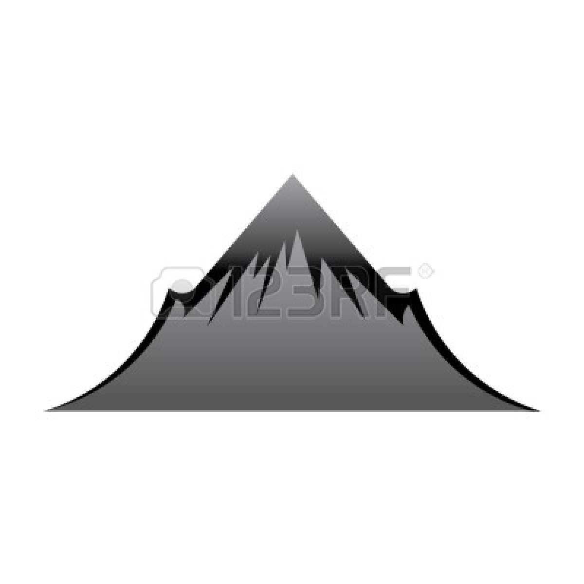 1200x1200 Mountain Clipart Black And White