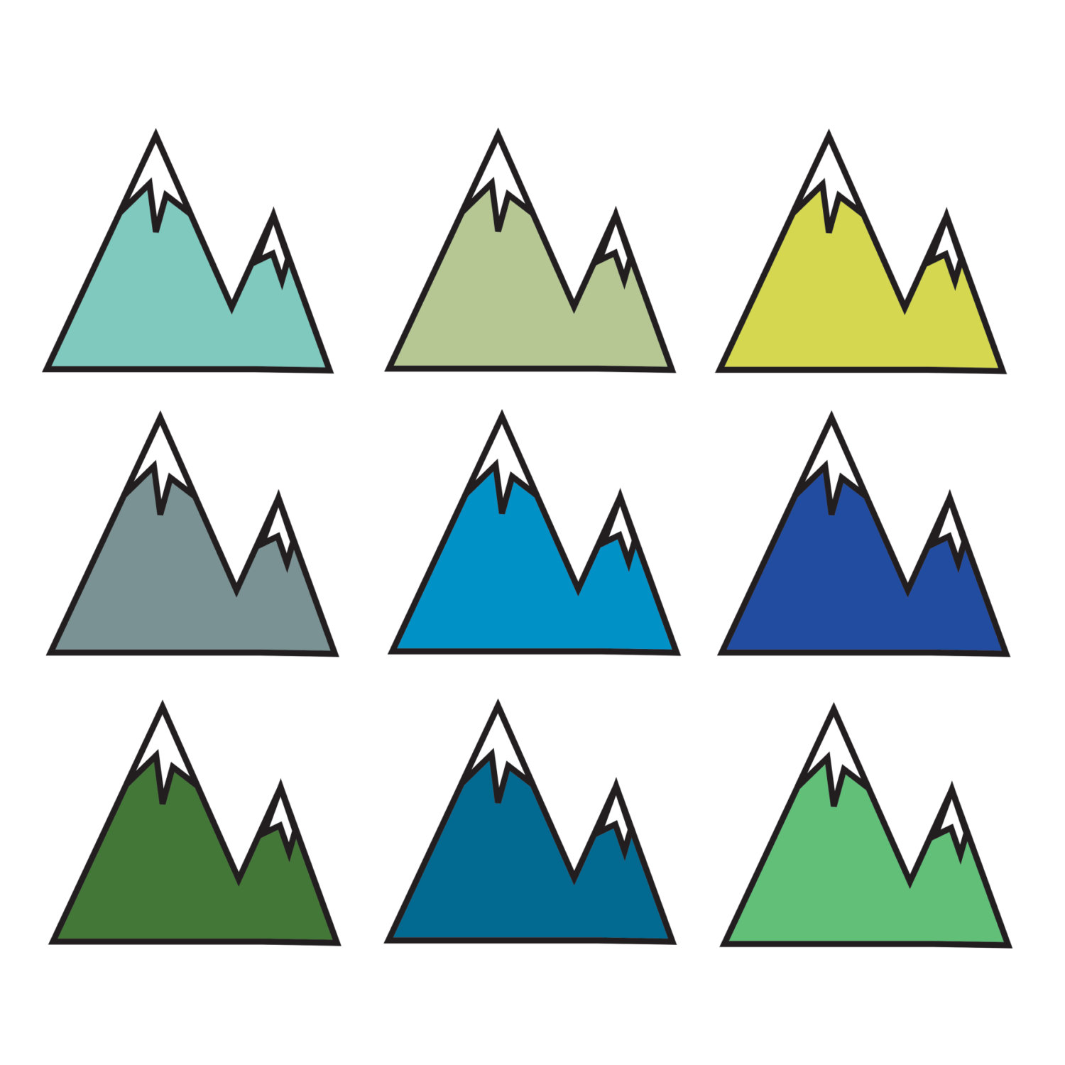 1500x1500 Mountains Mountain Clipart Black And White Free Images 2
