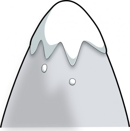 423x425 Kliponius mountain in a cartoon style clip art free vector in open