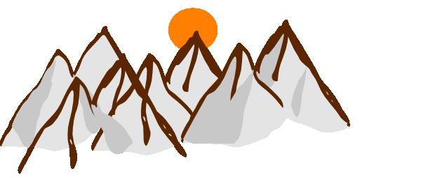 600x254 Mountain Range Clip Art Free Clipart Images 2
