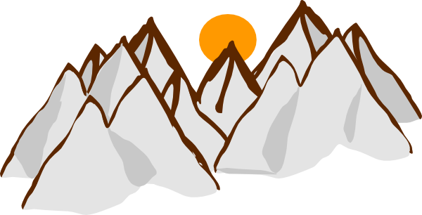 600x306 Mountain Range Sunset Clip Art