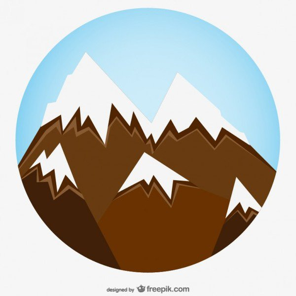 600x600 Mountain Clip Art Mountain Clip Art