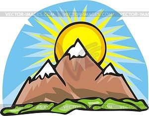 300x234 Free mountain clipart mountains clip art vector 2