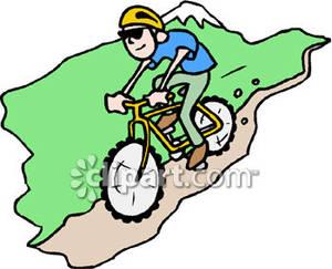 300x243 Mountain Biking Clip Art Cliparts