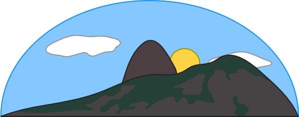 600x235 Mountain And Sea Clipart