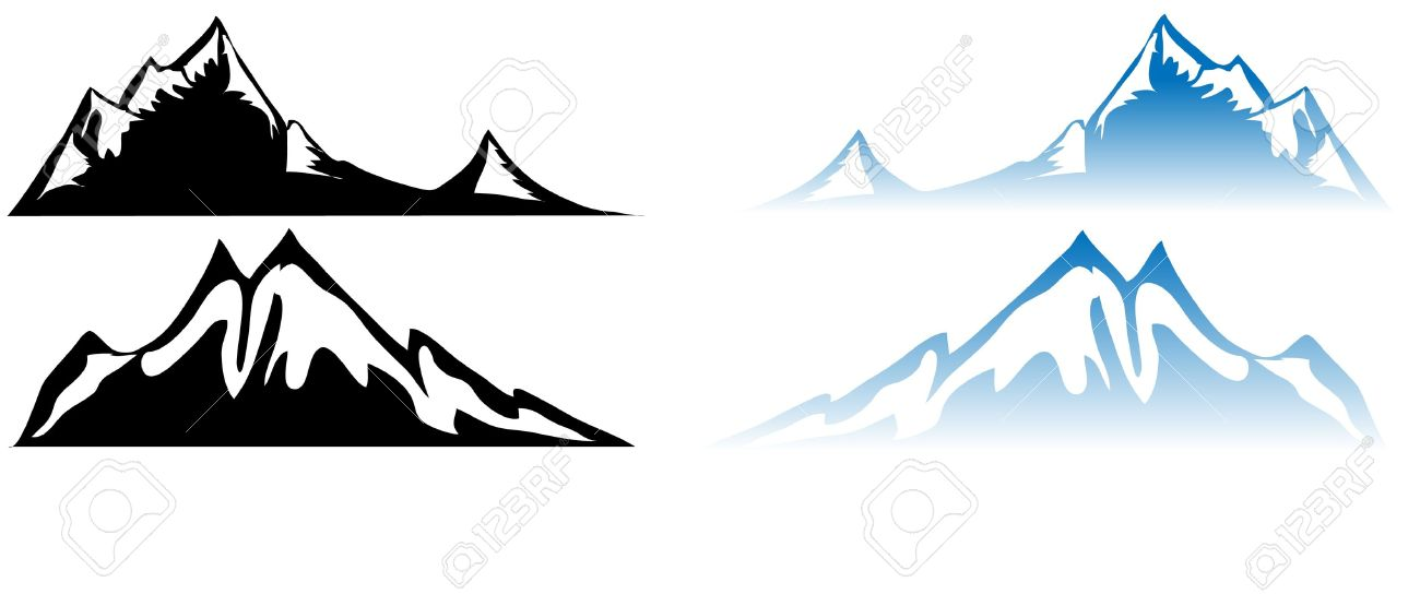 1300x544 Mountain Water Clipart