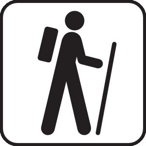 300x300 Hiking Clip Art