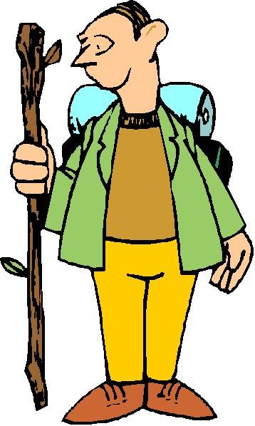 358x598 Hiking cartoon hikers clip art hiker and