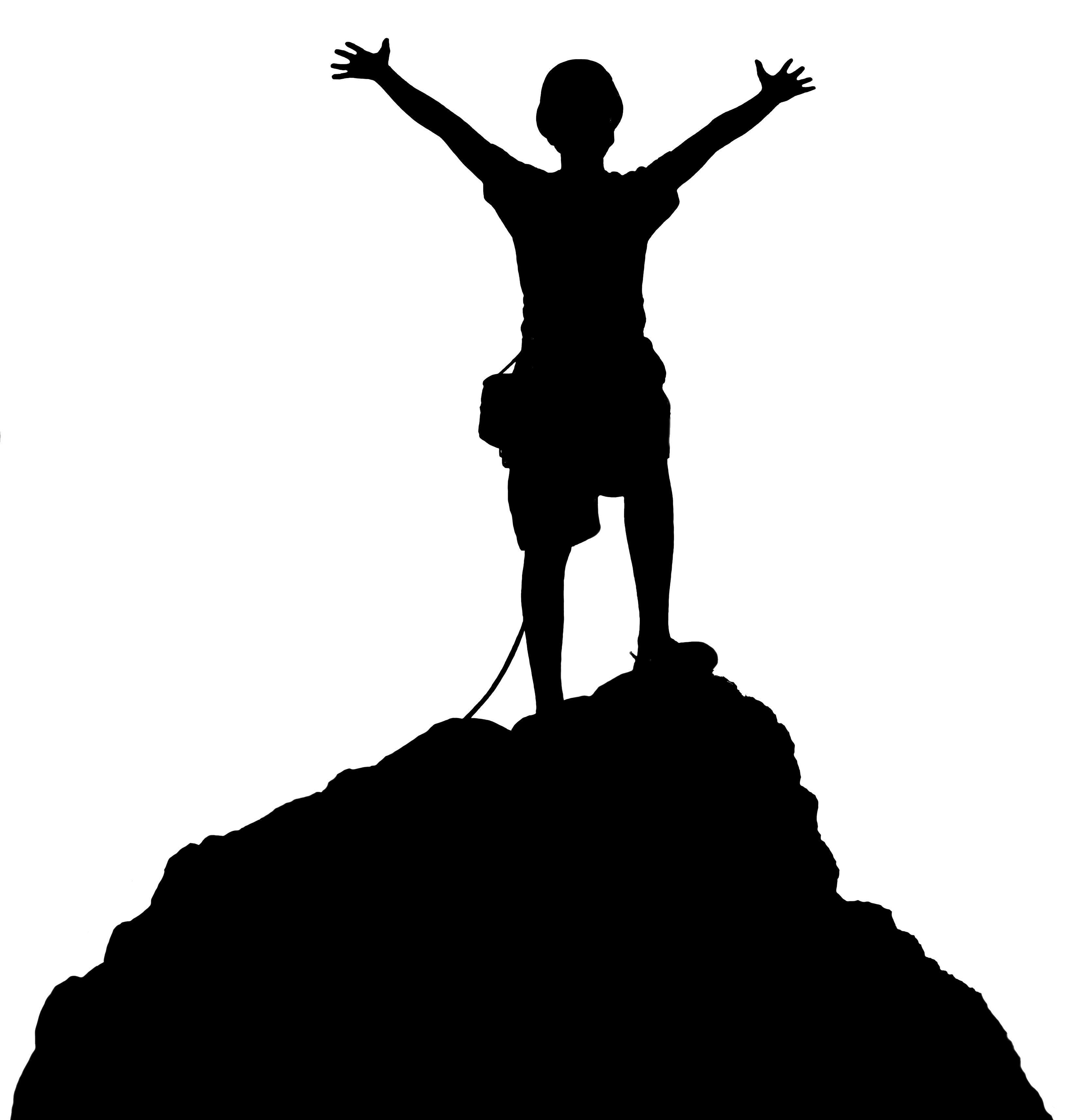 3264x3427 Hiking Top Of Mountain Clipart Kid